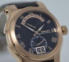 New Mens Renato Calibre Robusta Rose Black Swiss Day Retrograde Calendar Watch