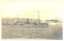 NEDERLAND  S.M.N. 1910 FOTO AK SHIP   =S.S. GROTIUS = POSTAGENT ST.  F/VF