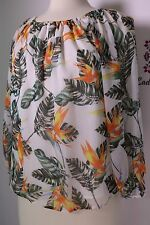Chelsea & Theodone New Women  Blouse Top multi color short sleeve size S NWT
