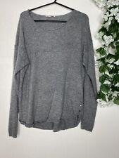 Esprit Grey Stretch Cashmere Blend Jumper Size L 12/14