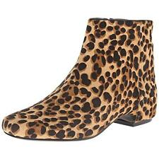 NINE WEST $139 Huggins Animal Print LEATHER ANKLE BOOTS BOOTIES HEELS SZ 5.5 NWT