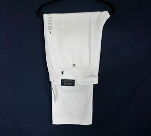 NWT Ralph Lauren stretch Classic Fit Men's The Polo Chino White Pants