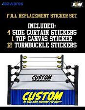 FULL Custom Sticker Set for Jazwares AEW Wrestling Ring - ❗️Make Any Style❗️