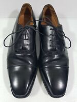 Finsbury Minister Mens Black Cap Toe Dress Shoes Size 8.5 Goodyear Welted 6766