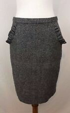 Blue Robin Women's Size 4 Gray & Black Metallic Pencil Skirt