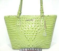 Brahmin Medium Asher Avocado Green Melbourne Embossed Leather Tote Bag NWT $285