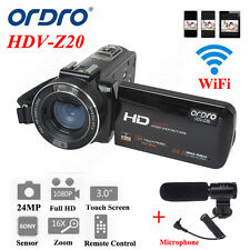 "Ordro Z20 3.0""Touch Screen 1080P Digital Video Camera 16×Zoom 24MP Sony Sensor"