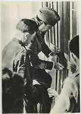 Libia, Italo Balbo con coloni  Vintage . Tirage postérieur 1958. Tirage argent