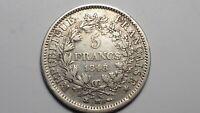 France : 5 francs 1848 BB  HERCULE
