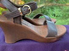 TOMMY HILFIGER Leather Slingbacks Clogs Mules Wedges Sandal Shoes Sz 6 ❤️sj17j10