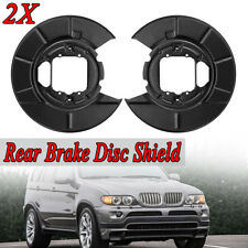 Rear Left & Right Disc Brake Backing Plate For BMW X5 E53 2000-2006 34216750386