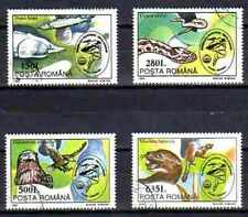 Animaux Faune sauvage Roumanie (60) complète 4 timbres oblitérés