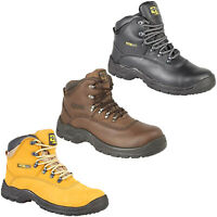 Grafters Waterproof Safety Boots Hiker Midsole S3 Leather Padded Ankle UK 6-14
