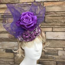 Fascinator Hat NYC. Handmade in NY. Derby Day Headband. One size fits all.