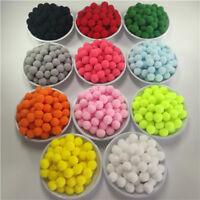 Craft Pom Poms - Packs of 100-250 Fluffy Pompoms - 10 colours - 10mm