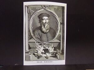 Antique Reproduction Engraving Print: John Wycliffe (1713)