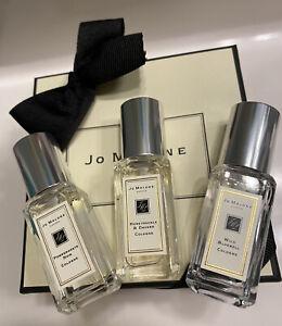 Lot/3 Jo Malone Pomegranate Noir/ Wild Bluebell/Honeysuckle&Davana 0.3 oz 9 ml