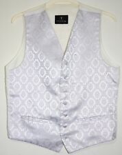 "Men's Waistcoat Ivory Lilac 40"" Chest Medium Formal Wedding Christmas Youngs"