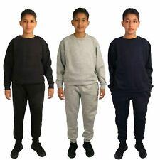 Boys Tracksuit Kids Jogging Suit Sweat Top Bottoms Joggers Age 7 8 9 10 11 12 13