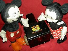 "GUND labeled 1940s vintage ""MICKEY & MINNIE MOUSE"" tgd. DISNEY felt/plush dolls"