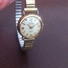 Donna Vintage 9ct GOLD AUDAX FORTIS 17 JEWELS OROLOGIO DA POLSO-BIRMINGHAM 1965