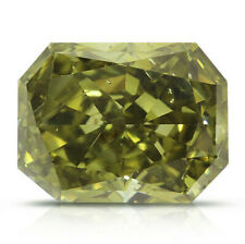 0.74 Carat Chameleon Yellow Diamond GIA Fancy Color Loose Natural Radiant Shape