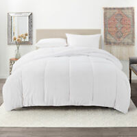 Ultra Soft Down Alternative Comforter All Season Quilted Duvet Insert - White