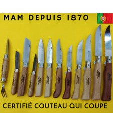 COUTEAU MAM Portugal Inox Pocket knife wood-chasse-peche-nature, DEPUIS 1870