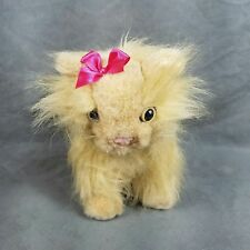 Battat Persian Long Hair Orange Cat Plush Toy Doll Stuffed Animal Pet Pink Bow