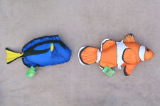 CLOWNFISH & BLUE TANG (Nemo & Dory) pillow stuffed cushion soft toy 53cm 47cm