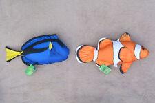 CLOWNFISH & BLUE TANG (Nemo & Dory) pillow stuffed cushion soft toy 53cm 47cm