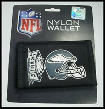 Philadelphia Eagles Team Logo Licensed NFL Football Nylon Trifold Wallet New