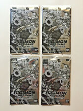 DIGIMON DASH PACK VER 1.0 X 4 PACKS BANDAI NEW SEALED ENGLISH CARD GAME BOOSTER