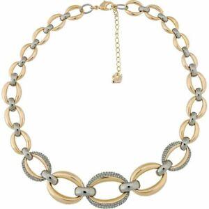 NIB$299 Swarovski Circlet  Necklace Rose Gold & Ruthenium Plated #5153380