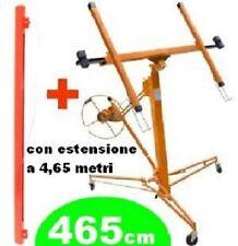 Carrello alzalastre professionale per cartongesso con estensione a 4,65 metri