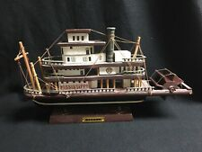 Vintage Antique Mississippi Steam Boat Wooden Ship Model Statue Ship Boat USA