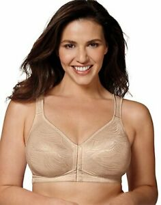 Playtex 18 Hour Wirefree Bra Posture Boost PowerSupport Side Back Smoothing E525