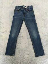 "Oshkosh B'gosh Size 8 Regular Boys Skinny Jeans Dark Wash Denim 22"" Inseam EUC"