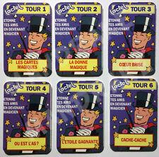 2 LOTS de 6 tours Magie collector (dans Pif-gadget) - Lactel Neufs et scellés !!