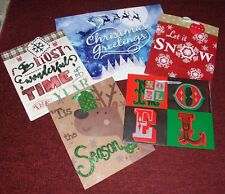 Assorted Specialty Designed Christmas Holiday Gift Bags - Set of 5 - By Voila