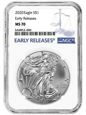 Presale 2020 $1 American Silver Eagle NGC MS70 Early Releases