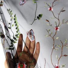 1*1.5m Black Flower Embroidery Colorful Mesh Wedding Bridal Veil Lace Dress