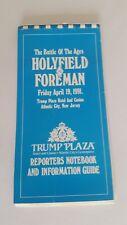 HOLYFIELD V Foreman RARISSIMO ORIGINALE reporter notebook PUGILATO inutilizzati