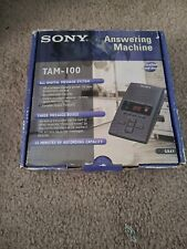 Sony Digital Telephone Answering Machine TAM-100 Gray 3 Message Boxes