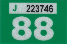 1988 WASHINGTON Vinyl Sticker Decal -CAR or TRUCK License Plate Reg. TAB TAG-New