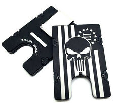 3 Percenter Punisher Flag, Aluminum Wallet/Card Holder, RFID protection, black
