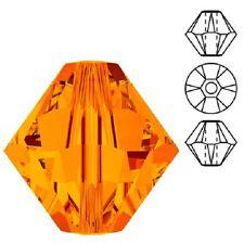 Genuine Swarovski Crystal Bicone. Tangerine Color. 3mm. Approx. 144 PCS.
