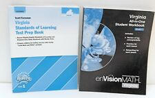 Lot of (2) Grade 1 Virginia SOL Test Prep Book + All-In-One Student Workbook
