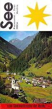 tour. Faltblatt, See, Paznautal, Tirol, ca. 1970