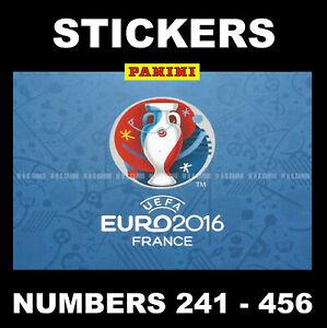 Panini Euro 2016 Football stickers #241 - 456